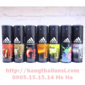 Chai xịt toàn thân nam Adidas 150ml